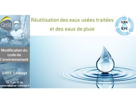 Réutilisation des eaux de pluie et traitées- Lise